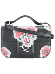 Alexander Mcqueen Poppy Print Crossbody Satchel Black
