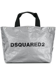 Dsquared2 Logo Shopping Tote Bag Grey