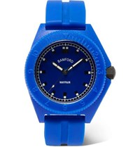 Bamford Watch Department Mayfair Rubber Blue