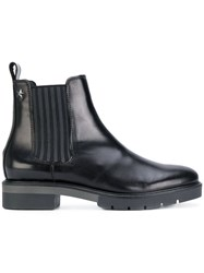 Tommy Hilfiger Chelsea Boots Calf Leather Leather Polyester Rubber Black