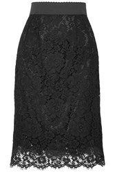 Dolce And Gabbana Guipure Lace Skirt Black
