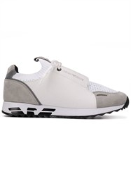 Emporio Armani Panelled Colour Block Sneakers White