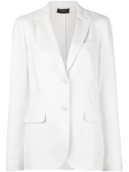Loro Piana Two Button Blazer White