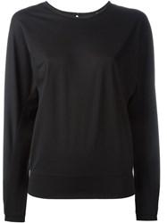 Y 3 Open Back Sweatshirt Black