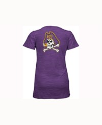 Pressbox Women's East Carolina Pirates Gander V Neck T Shirt Purple
