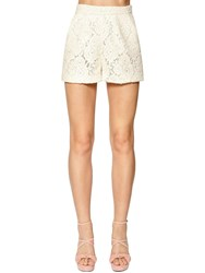 Redemption Macrame Lace Shorts Ivory