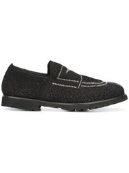 Rocco P. Gold Contrast Front Loafers Black