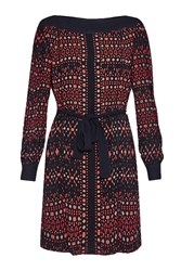 Great Plains Tarim Ladder Lace Detail Dress Red