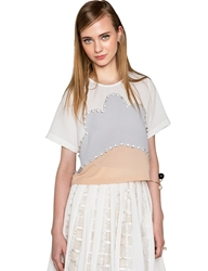 Pixie Market Pastel Embellished Top