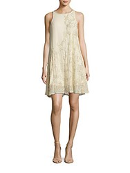 Belle By Badgley Mischka Sleeveless Beaded Dress Ivory