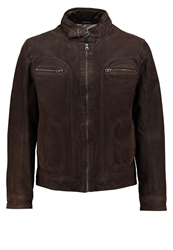 Tom Tailor Leather Jacket Brom Brown