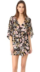 Cupcakes And Cashmere Emile Everly Floral Romper Black