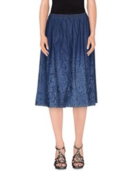 Pianurastudio Denim Denim Skirts Women Blue