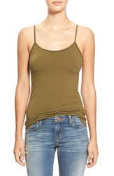 Junior Women's Bp. Stretch Camisole Olive Dark