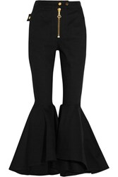 Ellery Alejandro Cropped High Rise Flared Jeans Black