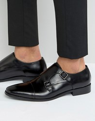 Dune Putney Monk Strap Shoe Black