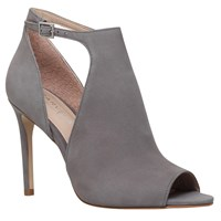 Carvela Glacier Cut Out Peep Toe Sandals Grey