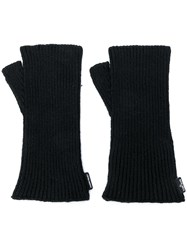 Stone Island Shadow Project Fingerless Gloves Black