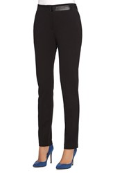 Women's Catherine Catherine Malandrino 'Hugo' Faux Leather Trim Slim Leg Pants