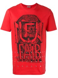 Christian Dior Homme Printed T Shirt Red