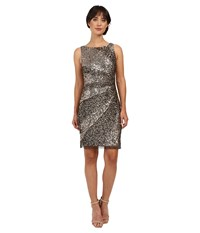 Adrianna Papell Sleeveless Beaded Cocktail Dress Bronze Women's Dress