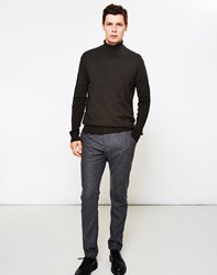 The Idle Man High Roll Neck Jumper Green