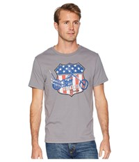 Rock And Roll Cowboy Short Sleeve T Shirt Solid With Graphic P9 6353 Grey T Shirt Gray
