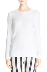 Rag And Bone Women's Rag And Bone Jean 'Rita' Cotton Crewneck Sweater White