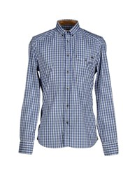 Alviero Martini 1A Classe Shirts Shirts Men Blue