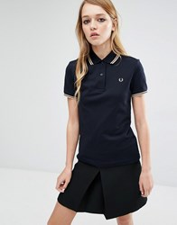 Fred Perry Twin Tip Polo Shirt Navy