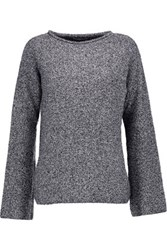 Opening Ceremony Cutout Boucle Sweater Black