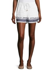 Michael Michael Kors Paillettes Embroidered Boxers White