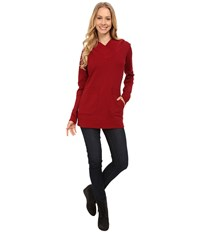 Lole Call You Tunic Carbernet Women's Long Sleeve Pullover Burgundy