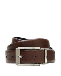 Ted Baker Reversible Textured Belt Chocolate