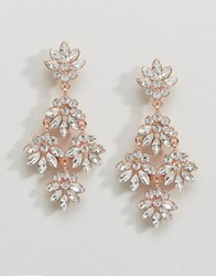 Coast Floral Earrings Rose Gold