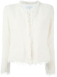 Iro Fringed Boucle Jacket White