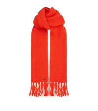 Ami Alexandre Mattiussi Fringe Knitted Scarf Red