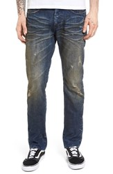 Prps Men's Big And Tall Demon Slim Straight Leg Jeans Indigo Blue