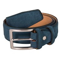 40 Colori Petrol Blue Trento Leather Belt