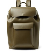 Mansur Gavriel Leather Backpack Army Green