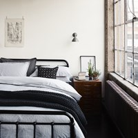 Murmur Ticking Stripe Duvet Cover Charcoal And Linen Grey