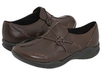 Clarks Wave.Run Dark Brown Leather Women's Shoes