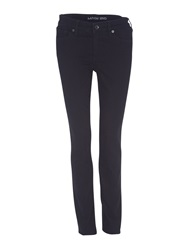Lands' End Mid Rise Straight Leg Jeans Black