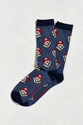 Urban Outfitters Super Mario Print Sock Navy