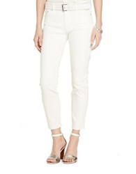 Lauren Ralph Lauren Straight Cropped Stretch Jeans White