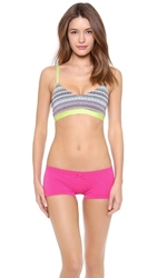 Top Secret Bash Bralette Grey Stripe