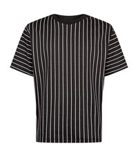 3.1 Phillip Lim Short Sleeved Striped Sweatshirt Male Black