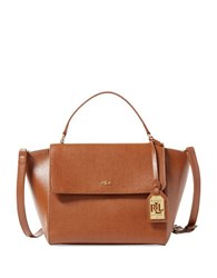 Lauren Ralph Lauren Barclay Leather Satchel Lauren Tan
