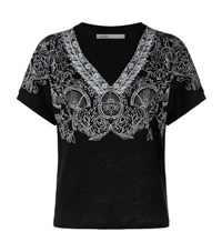 Maje Trusti Embroidered T Shirt Female Black