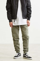 Urban Outfitters Uo Stacked Adjustable Hem Jogger Pant Dark Green